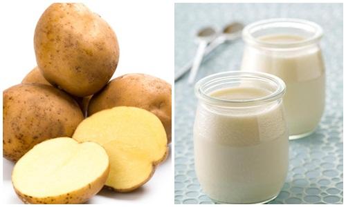 """Cách trị mụn cám hiệu quả """"dùng khoai tây và sữa chua"""